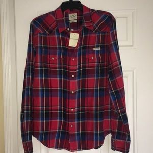 Lucky Brand plaid snap front closure. NWT